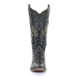 1cac8250471 Corral Lizzie Black Vintage Lizard Boot C1198